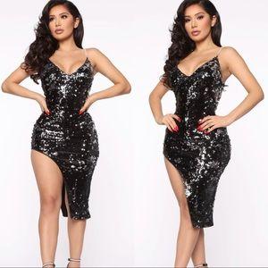 Fashion Nova Making A Statement Sequin Midi Dress